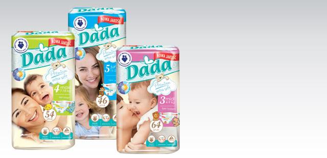 Pieluchy Dada Premium 2 opakowania za 49,99zł