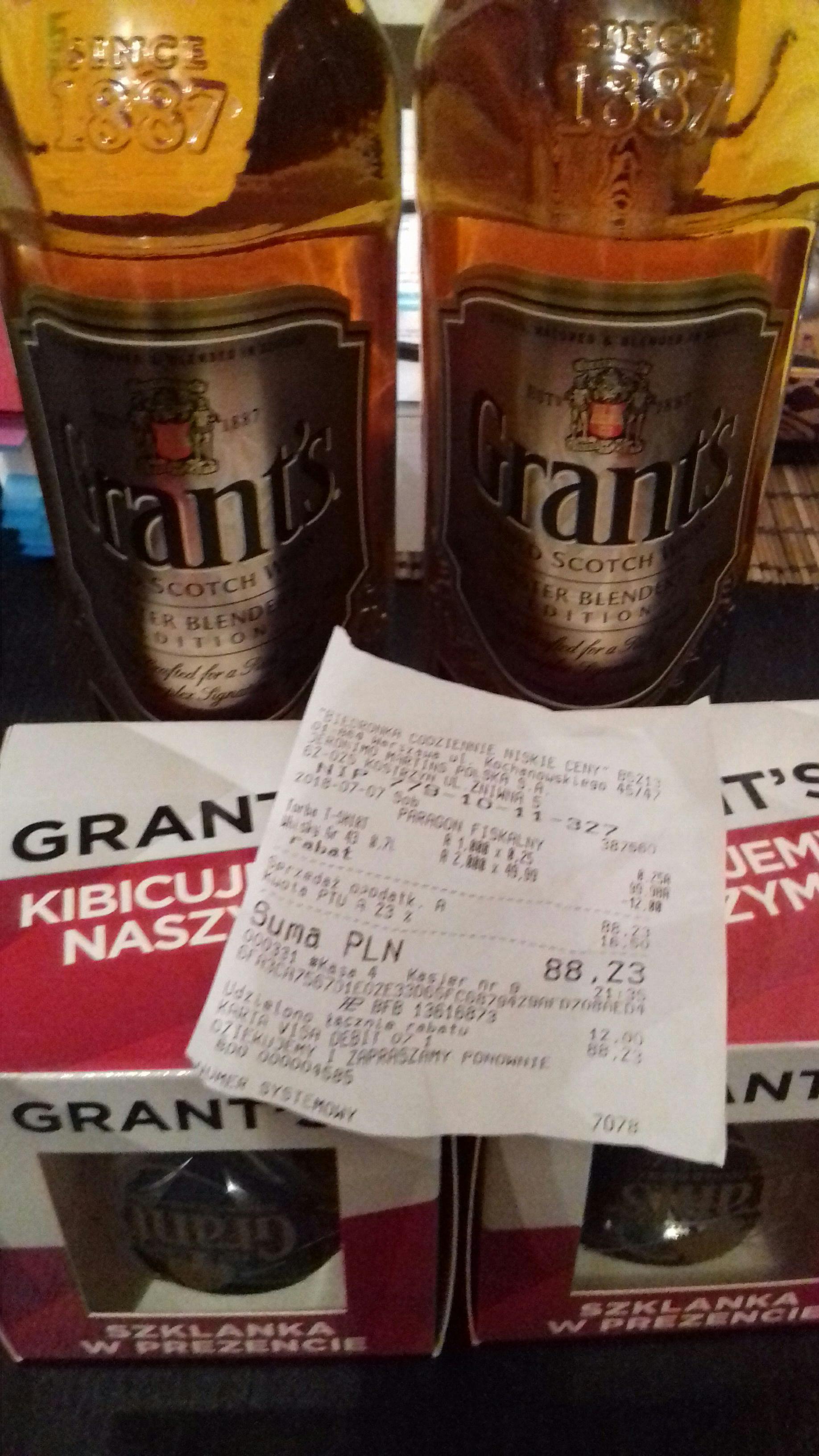 Grant's master Blender's Edition 0.7l + szklanka za 43,99zl (przy zakupie dwóch butelek)