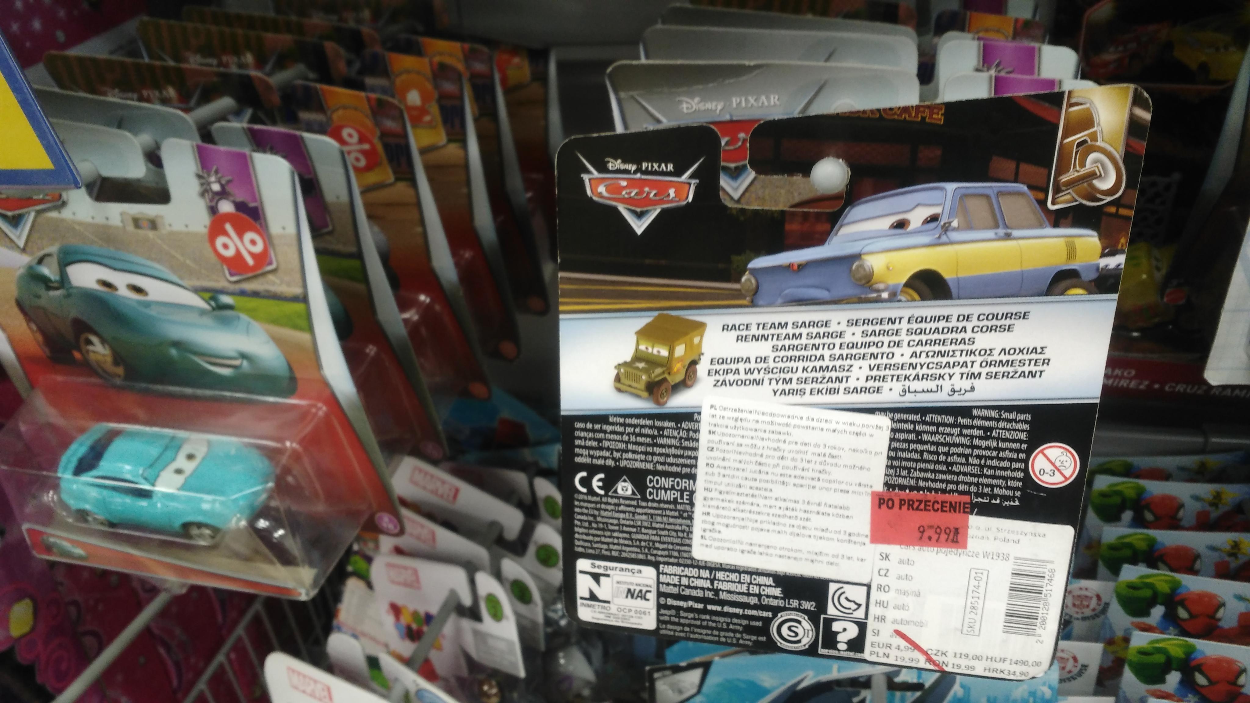 Samochodziki z filmu Auta / Cars w Pepco