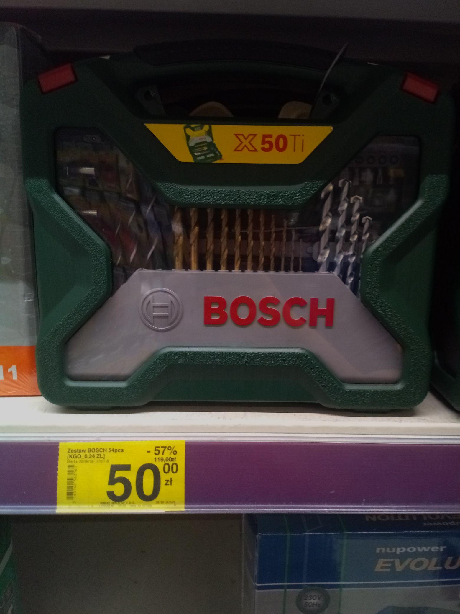 Zestaw Wiertła Bosch X50Ti 54sztuki wyprz. Carrefour
