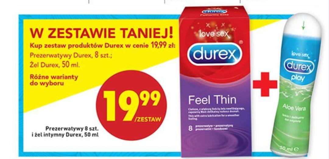 Prezerwatywy Durex 8sztuk + żel 50ml