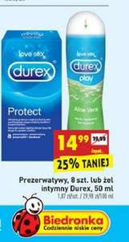 Prezerwatywy Durex 8sztuk lub żel 50ml