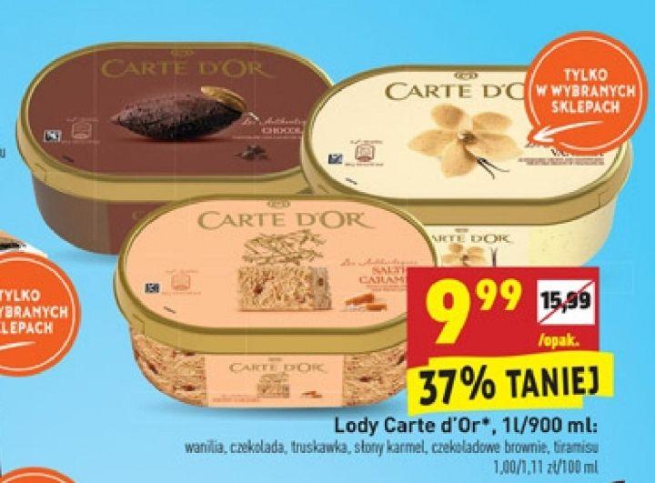 Lody Carte D'or 1l/900ml Biedronka