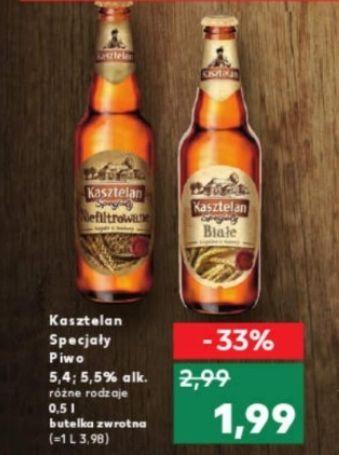 Piwo Kasztelan Specjały: Niefiltrowane i Białe @ Kaufland