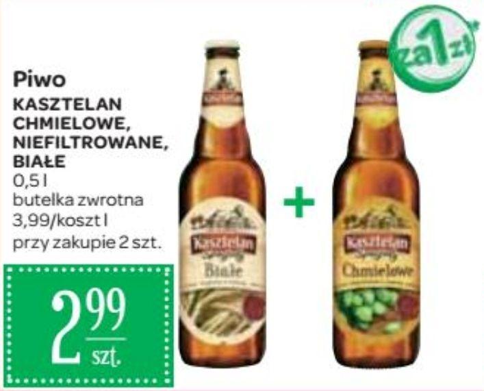 2x piwo Kasztelan Specjały: Chmielowe, Niefiltrowane i Białe (2 zł za 1) @ Carrefour
