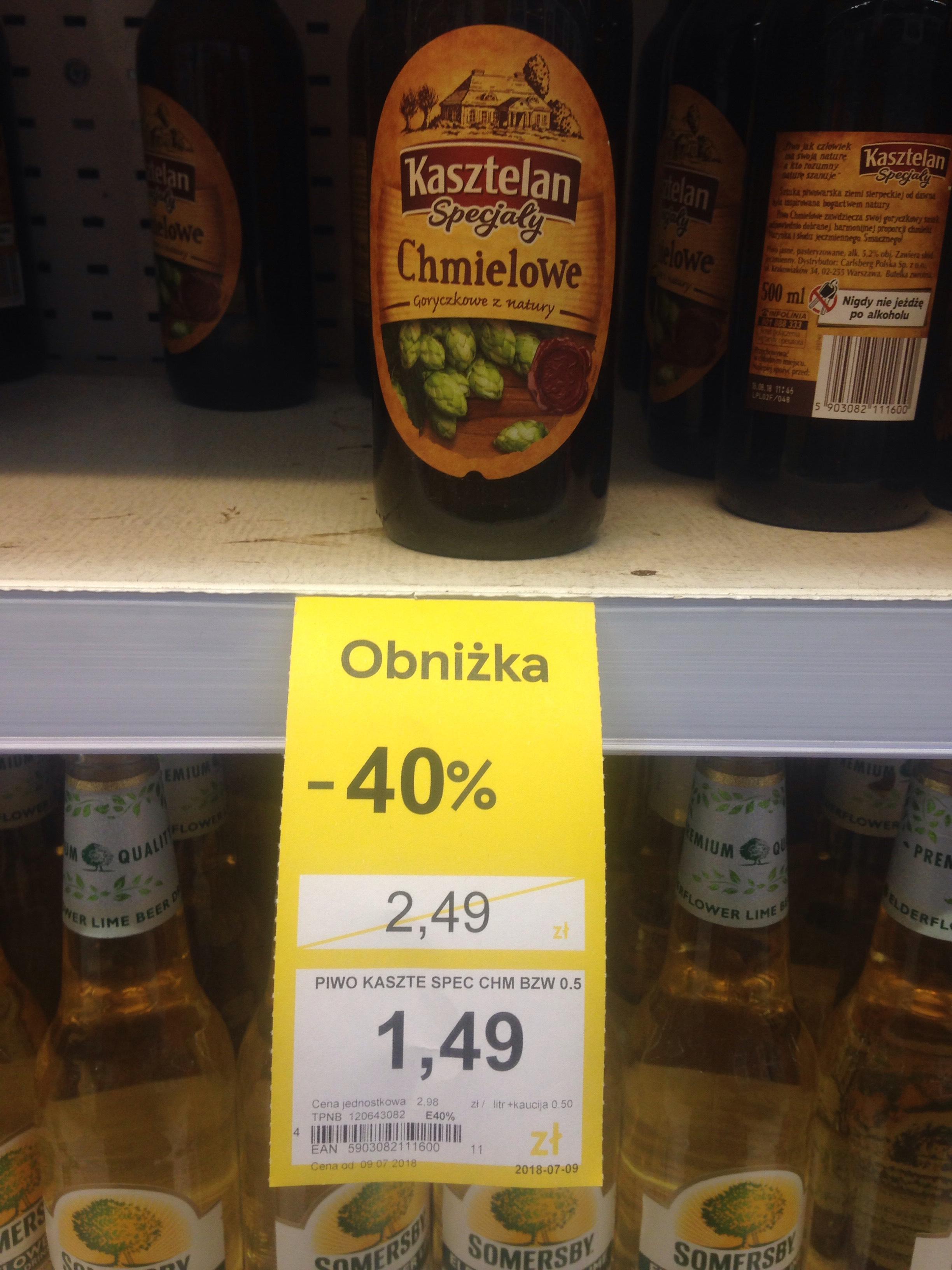 Piwo KASZTELAN Specjały Chmielowe TESCO