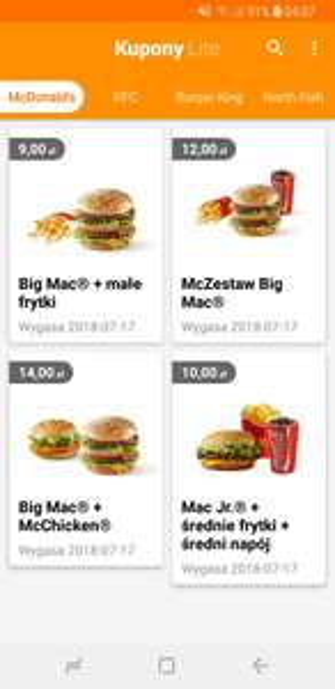 Kupony McDonalds - lipiec 2018 - tydzień 2