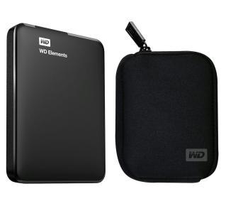 Dysk zewnętrzny WD Elements Portable 1,5TB USB 3.0 (czarny) + etui