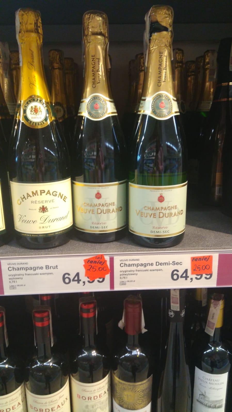 Aldi - oryginalny francuski Champagne Brut/Demi-Sec