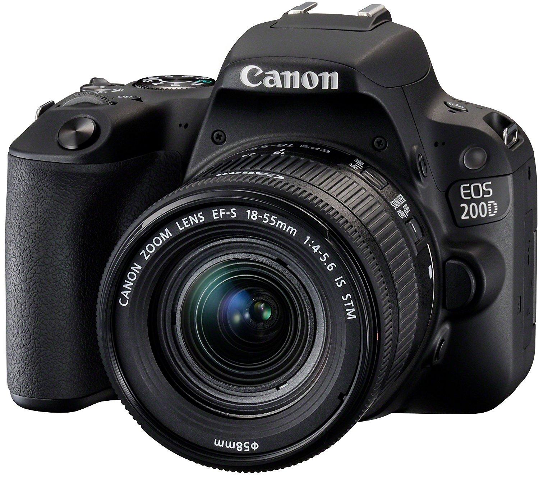 Lustrzanka cyfrowa Canon 200D + obiektyw 18-55 IS STM @ Amazon