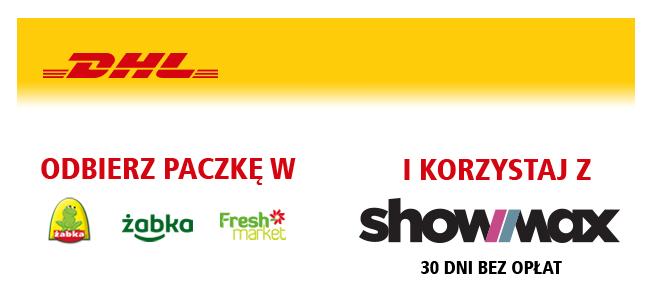 30 dni Showmax za odebranie paczki DHL Parcel z Żabki lub Fresh Market