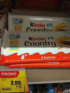 4 batony Kinder Country w Intermarche