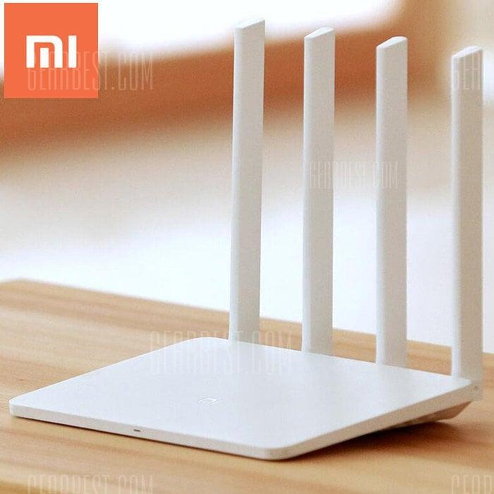 2x Xiaomi Mi WiFi Router 3 White 128MB @GearBest