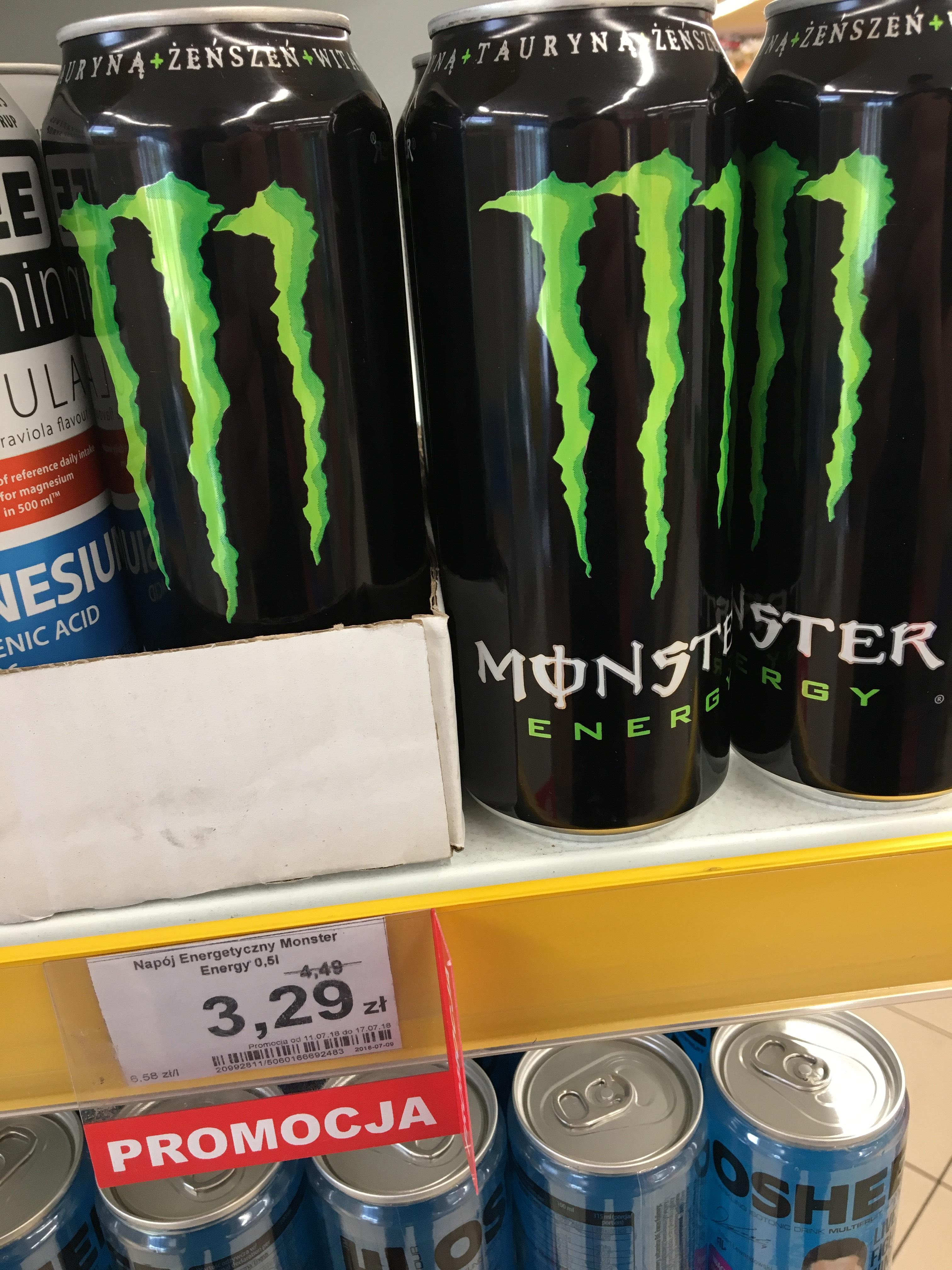 Monster Energy 0.5 L 3.29 zł DINO