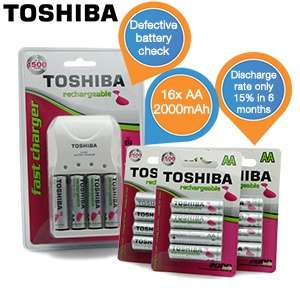 Ładowarka do akumulatorków + 16 akumulatorków AA Toshiba za 114,9 zł @ ibood.pl