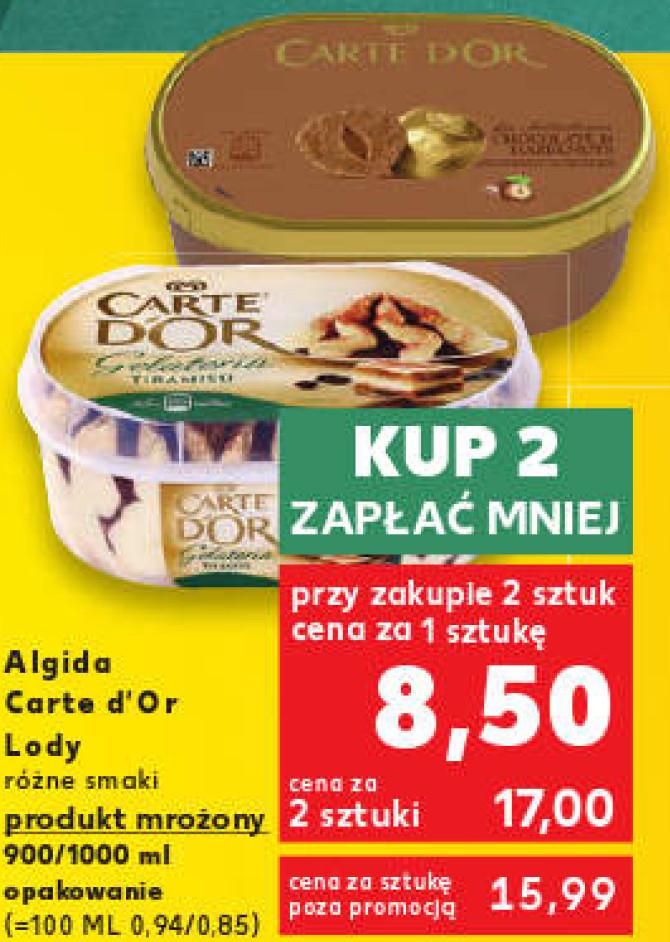 2 x lody Algida Carte d'Or 900/1000ml tylko w sobotę 14 lipca w Kauflandzie