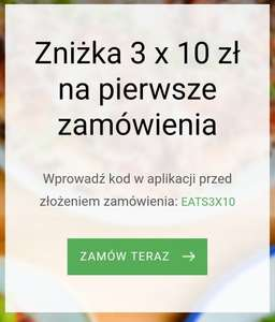 UberEats -10 zł x3