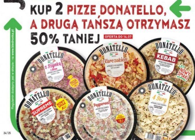 Druga pizza Donatello 50% taniej biedronka