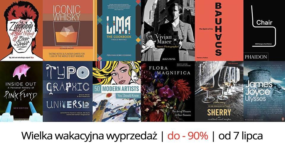 Wyprzedaż do 90% w księgarni artystycznej bookoof