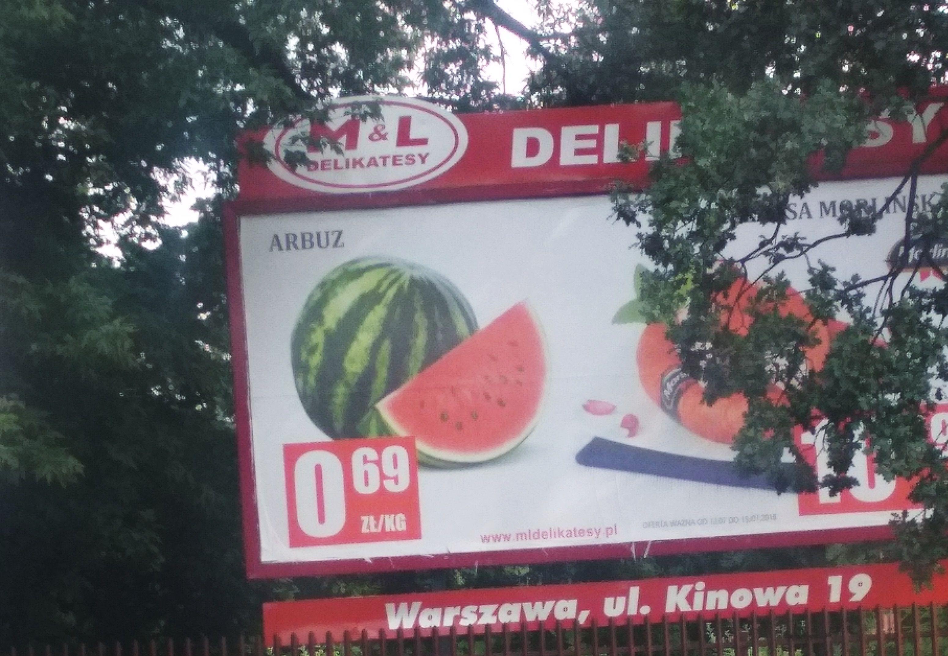 Arbuz 0,69 zł/kg + inne owoce w atrakcyjnych cenach M&L Delikatesy