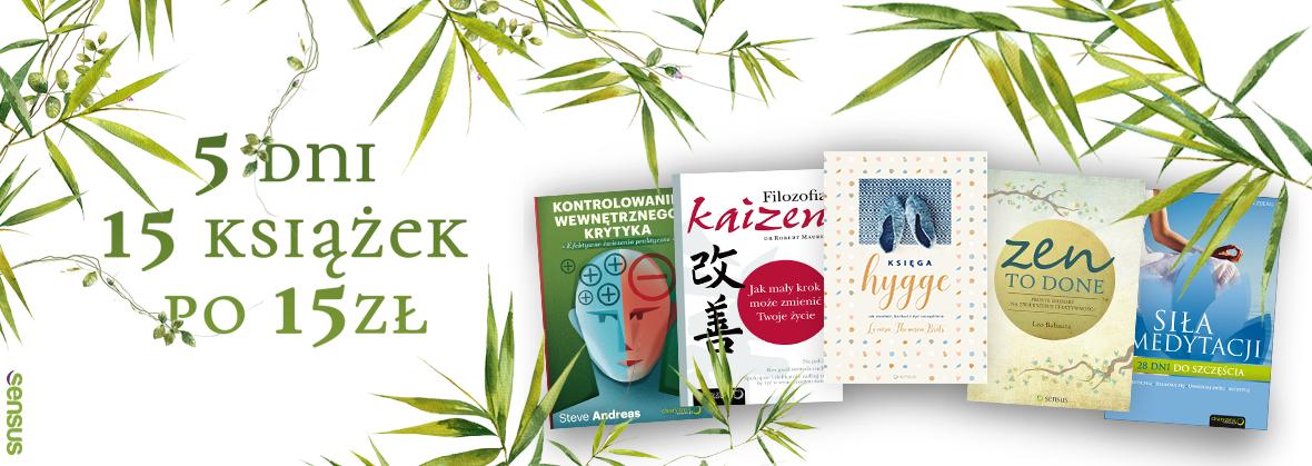 15 książek po 15 zł @ Sensus