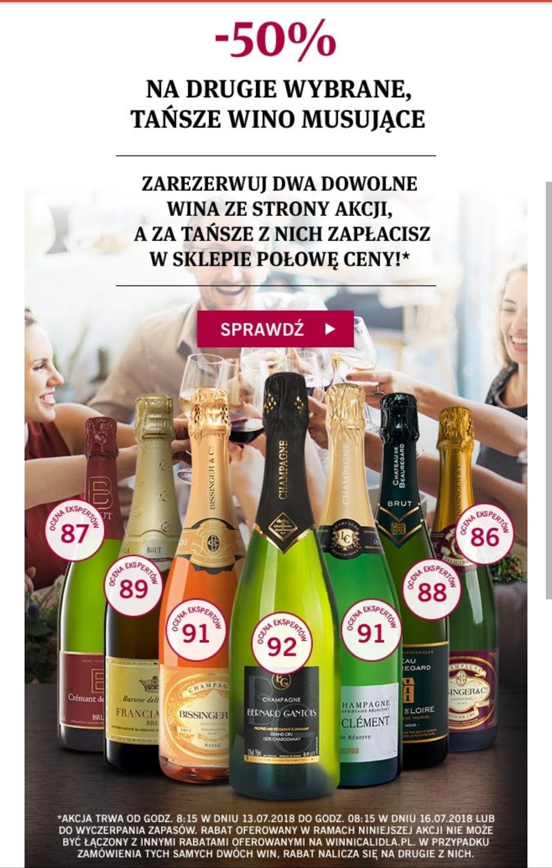 Winnicalidla.pl Drugie wino musujące - 50%
