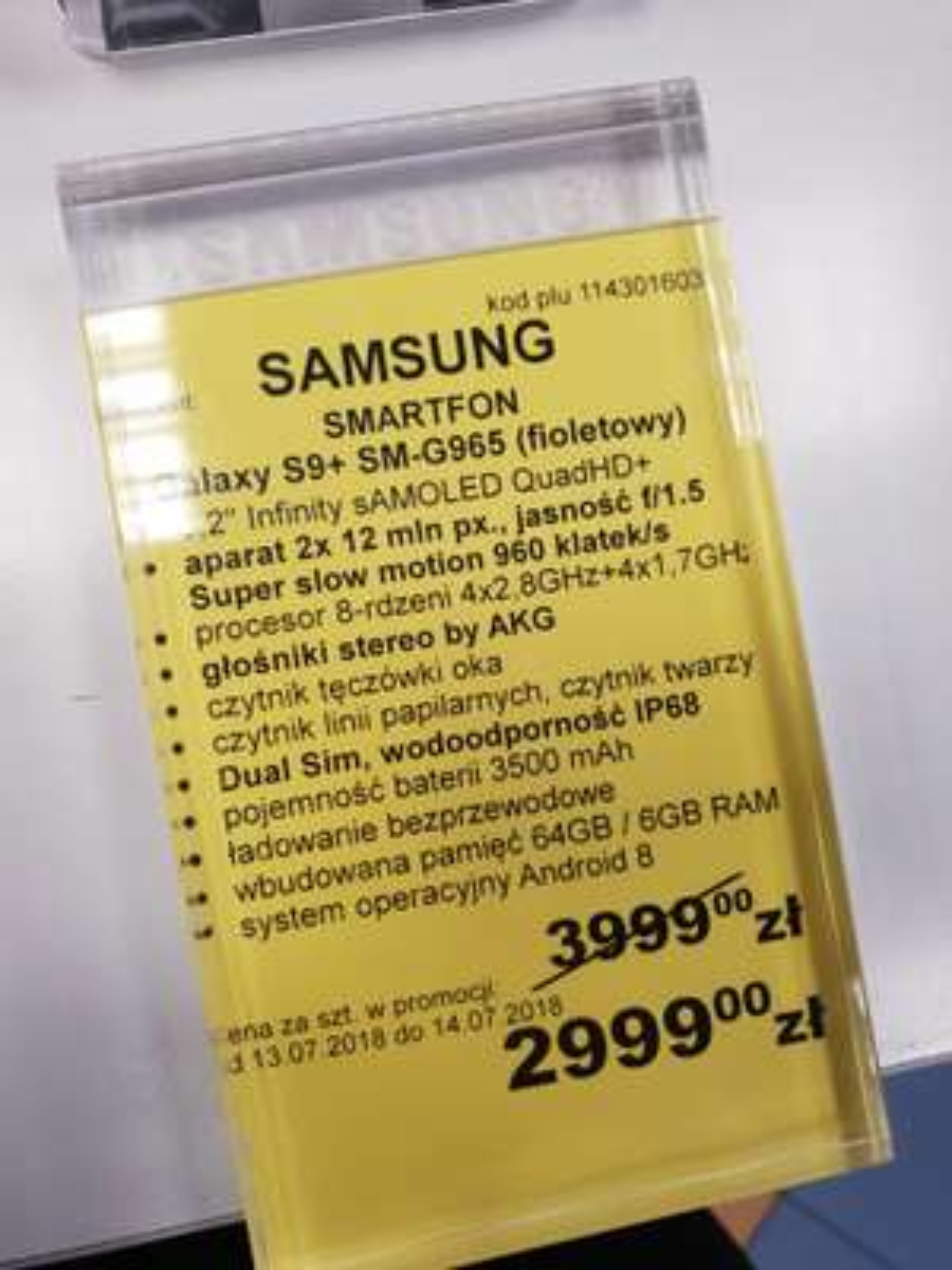 Samsung Galaxy s9+ (możliwe 2299zł) RTV euro AGD