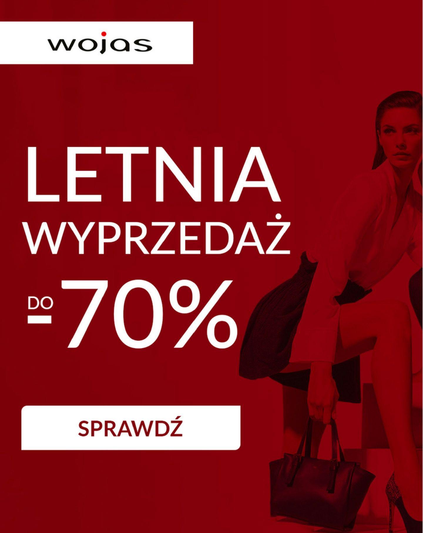 Letnia wyprzedaż do - 70% w sklepie Wojas