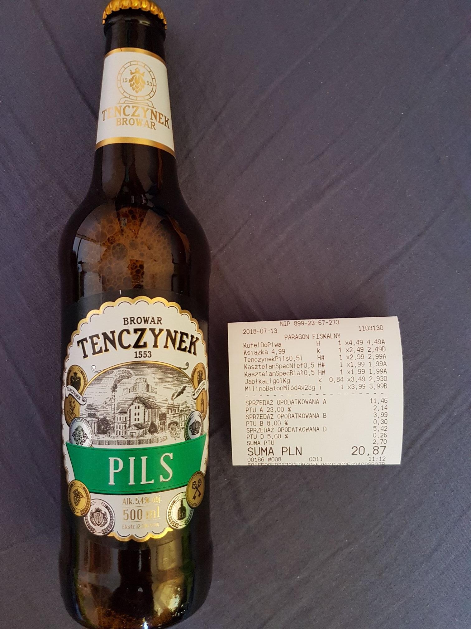 Piwo Tenczynek Pils @ Kaufland
