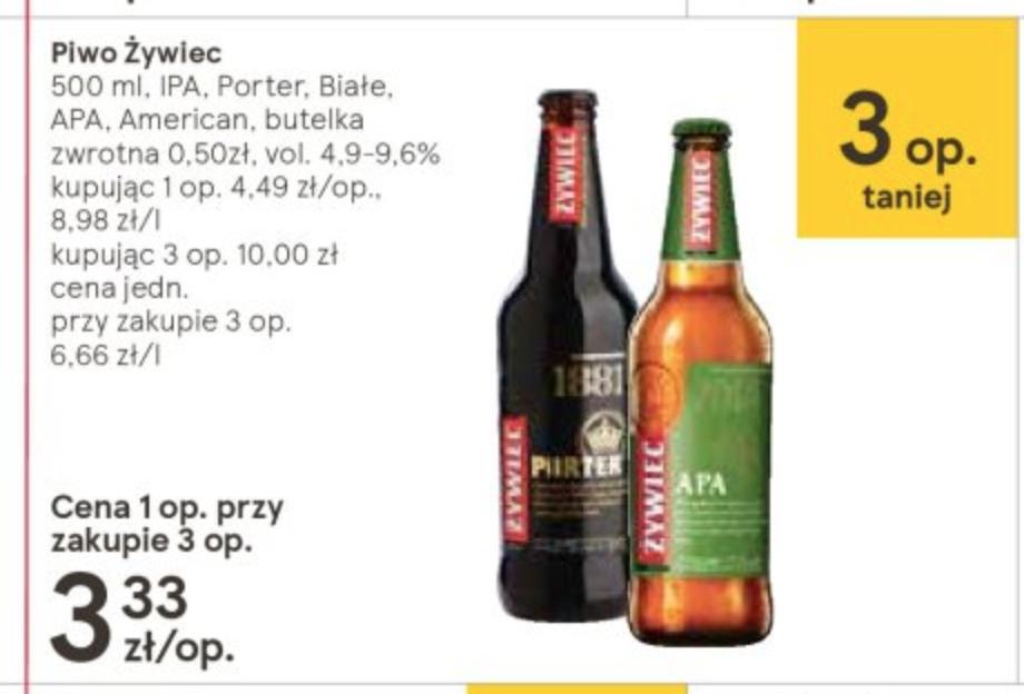 Piwo Żywiec Porter, Apa, Amerykańskie, Ipa, Białe 3 za 10zł w Tesco