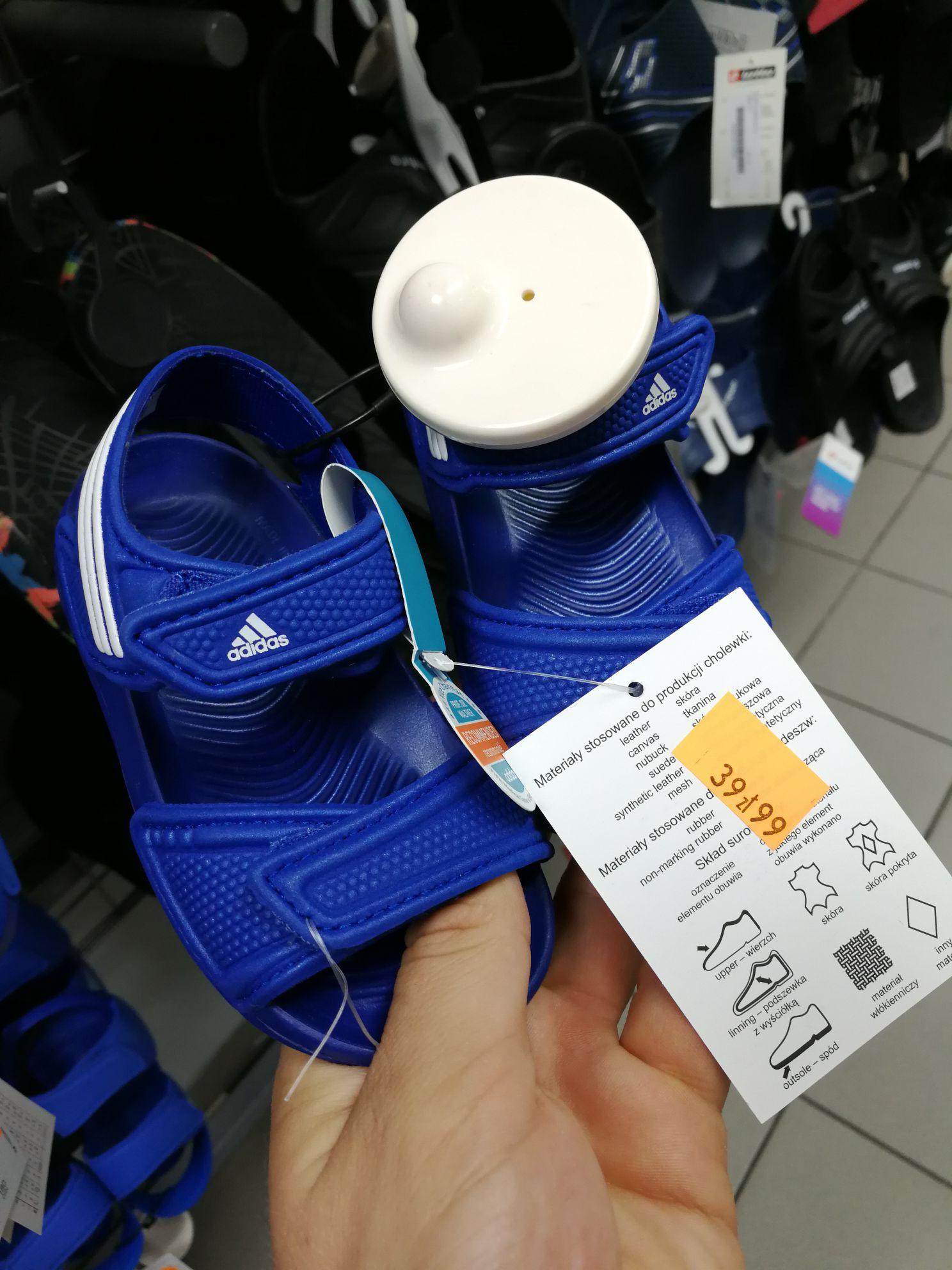 Klapki dla dzieci Adidas Akwah stacjonarnie @50style