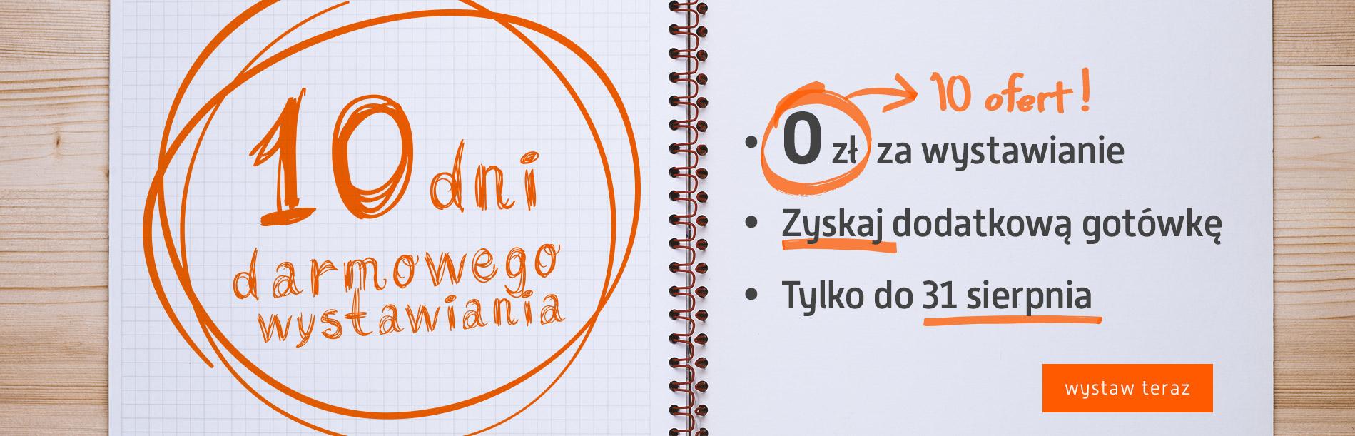 Darmowe wystawianie (10 przedmiotów) do 31 sierpnia @ Allegro
