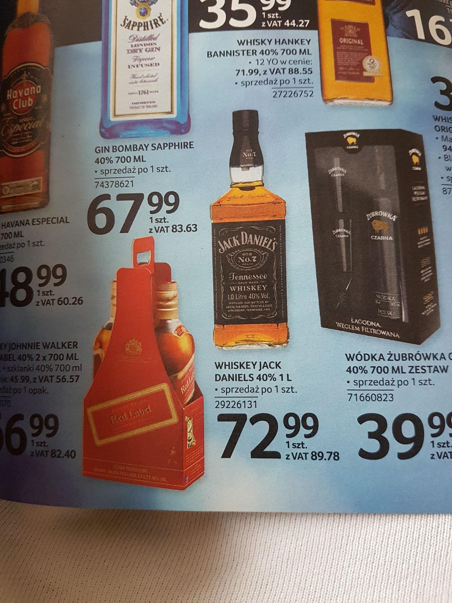 Whiskey Jack Daniels 1L i inne #Selgros