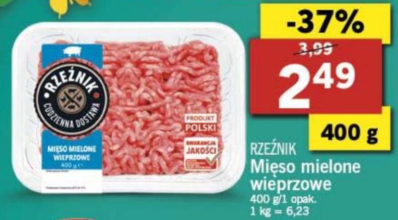 Lidl mięso mielone wieprzowe 400 gramów