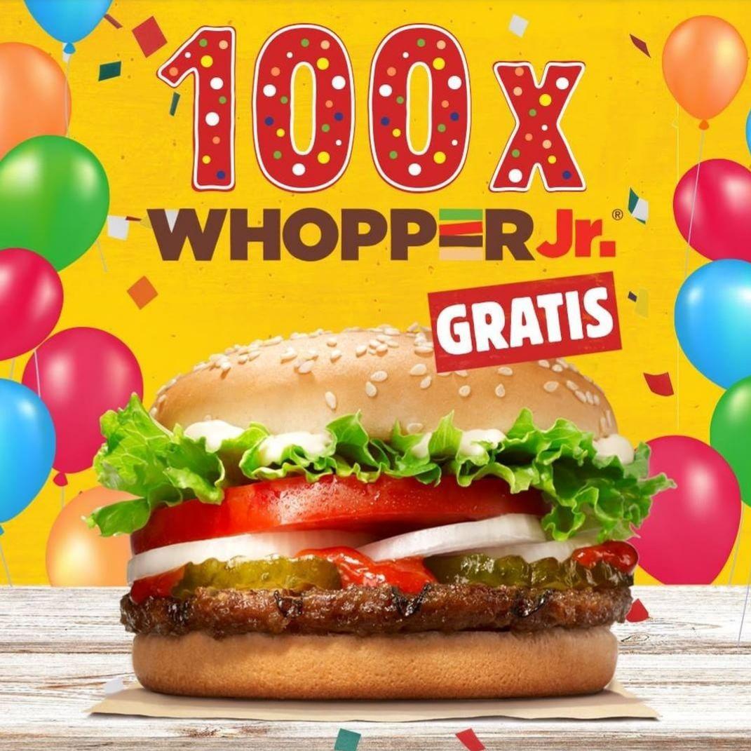 100 darmowych Whooperów junior @ Burger King (Kraków)