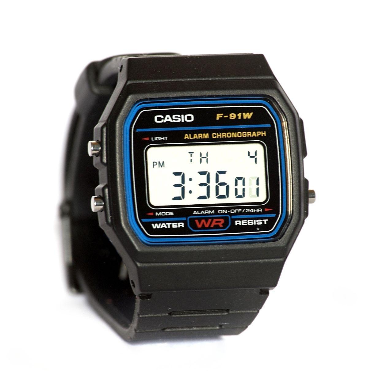 Kultowy zegarek Casio F-91W