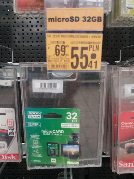 Goodram 32GB microSDHC M3AA MLC dedykowana do monitoringu @ Auchan (Poznań)