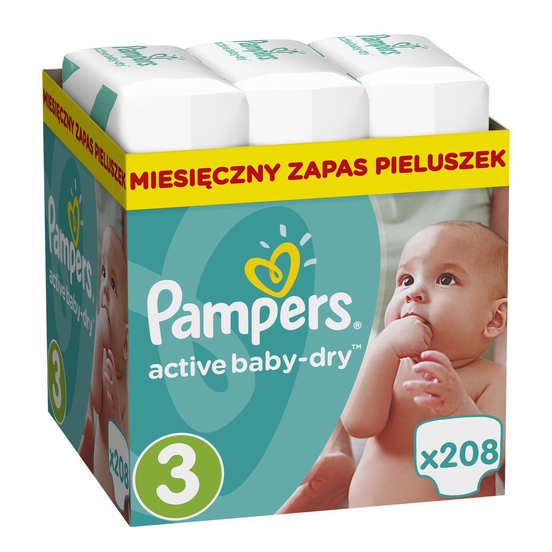 Pieluszki Active Baby-Dry 3-0,53 zł/szt  4-0,63 zł/szt Allegro