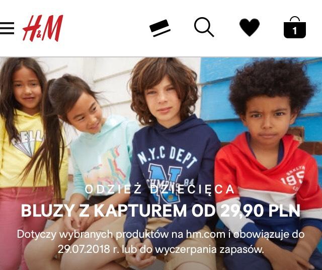 Bluzy dziecięce za pół ceny @h&m