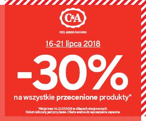 -30% na wszystkie przecenione produkty @C&A