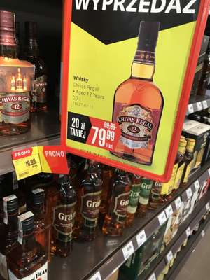 Whisky Chivas Regal 12YO 700ml intermarche 79,99