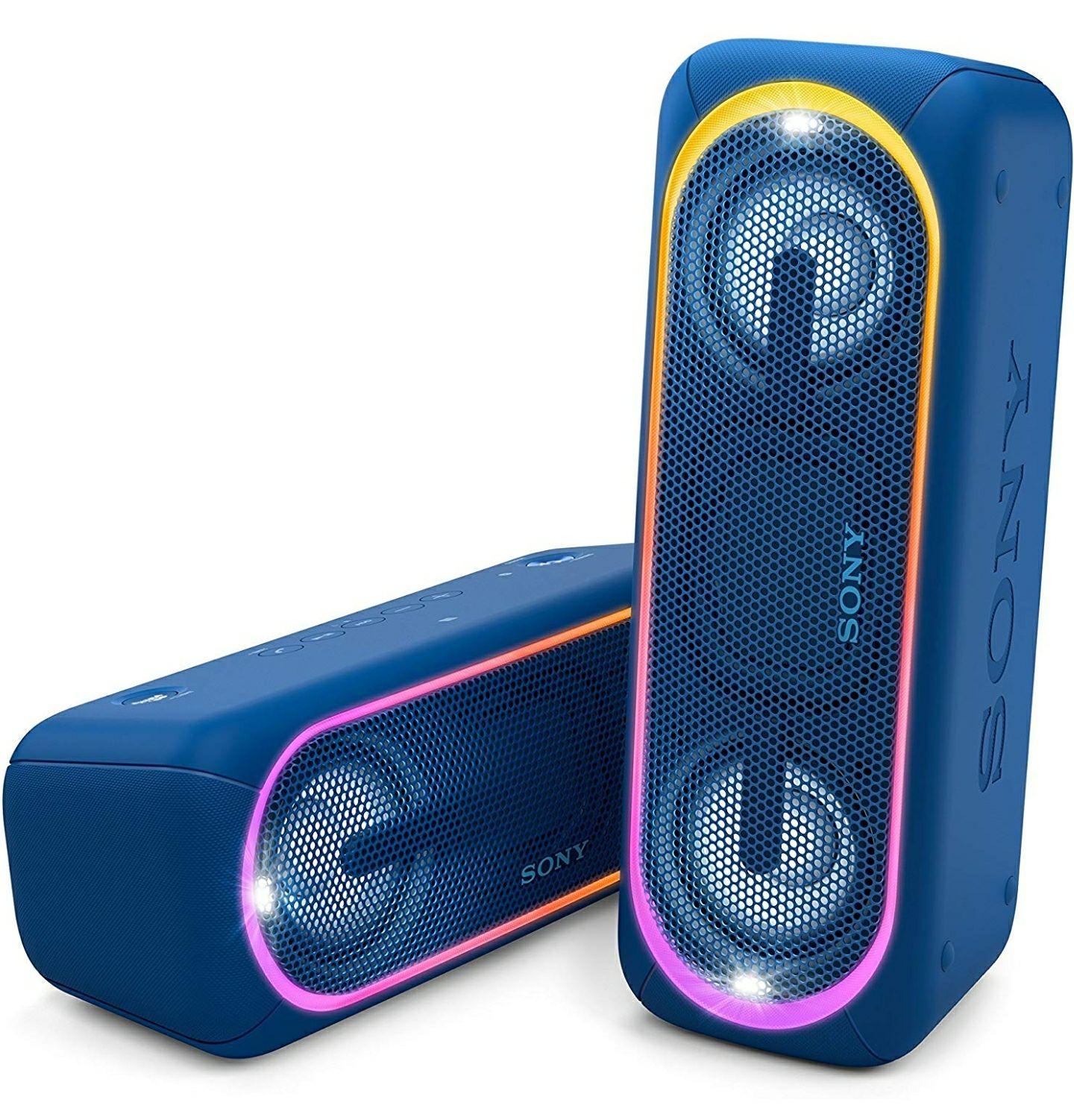 Sony SRS XB40 za 109€ głośnik bezprzewodowy z podświetleniem (dostępny niebieski i czerwony)