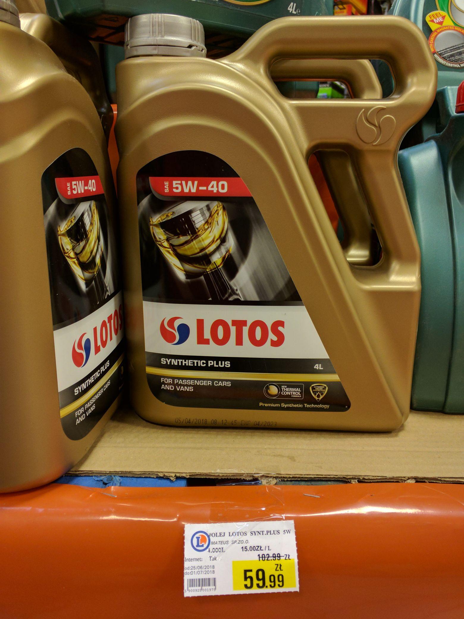 4L syntetycznego oleju Lotos w ciekawej promocji w Leclerc Wrocław