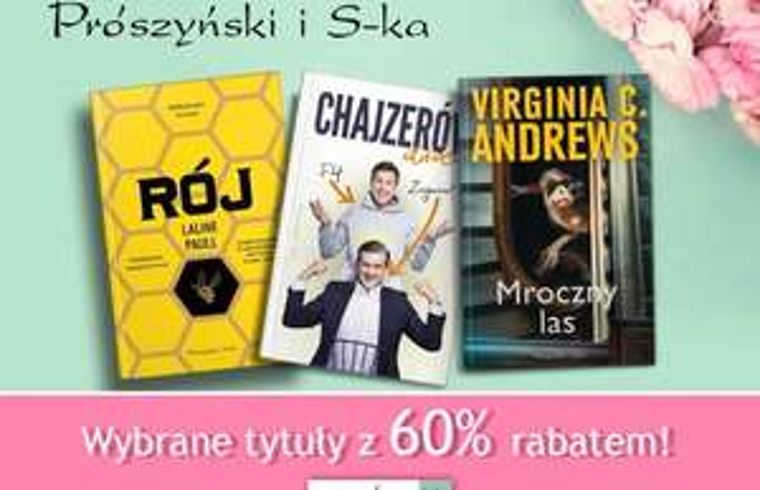 60% rabatu na wydawnictwo Prószyński @ Aros