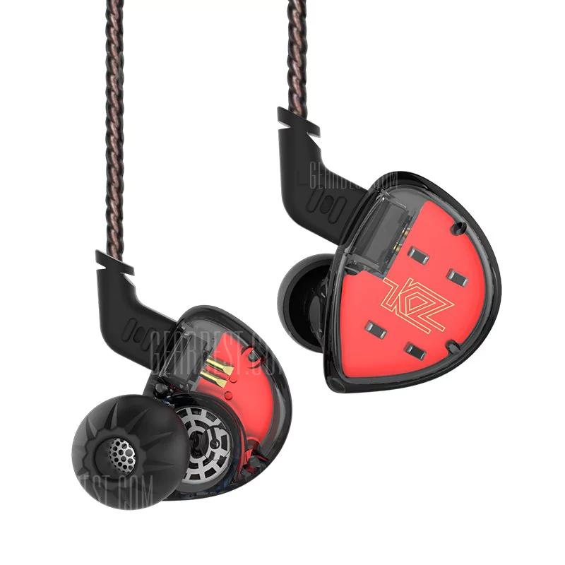 Hybrydowe słuchawki KZ ES4 douszne bez mikrofonu dla nowych GB