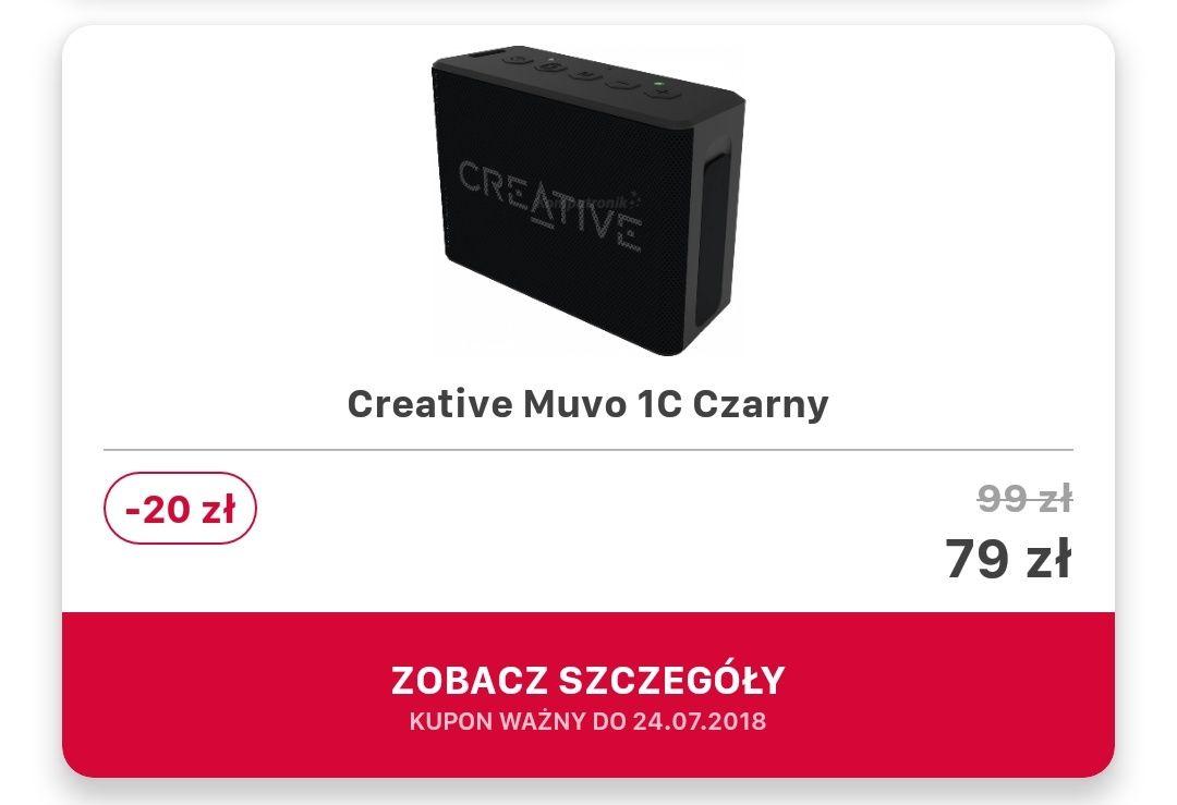 Creative Muvo 1C czarny za 79 zl w Komputronik VIP