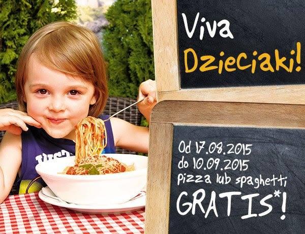 Za każde wydane 25zł pizza lub spaghetti dla dzieci GRATIS @ Dominium