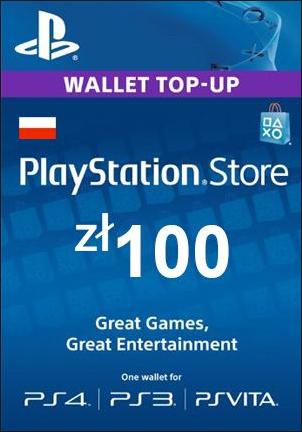 Doładowanie Playstation Store 100 zł za 89,24zł