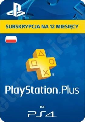 Playstation Plus PL 365 dni - roczna subskrypcja