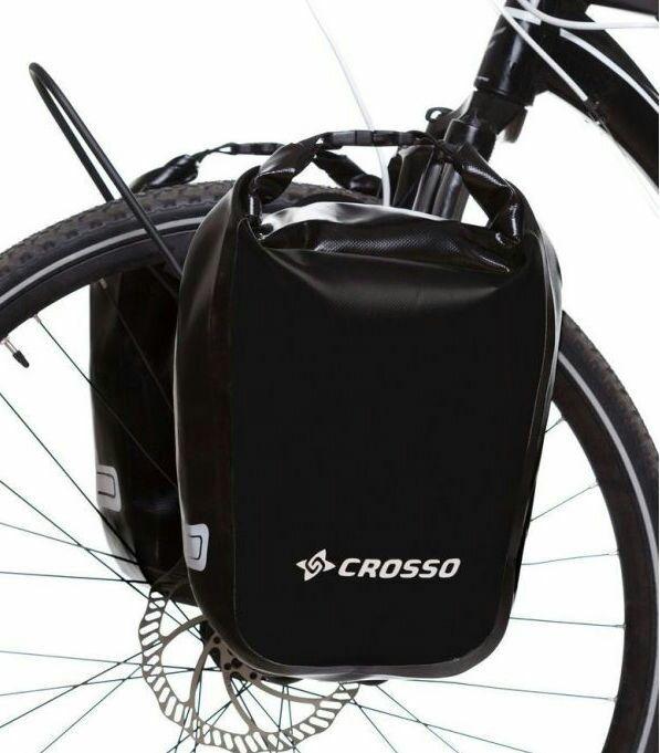 Sakwy rowerowe Crosso 30L w cenie 165 za dwie.